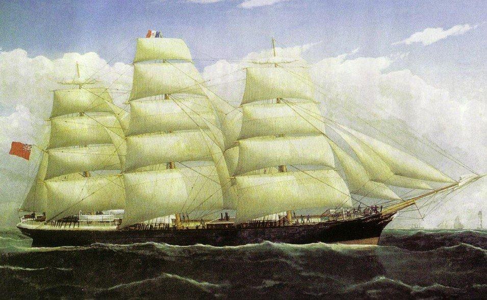 1882년에 런던까지 냉동육을 운반했던 범선